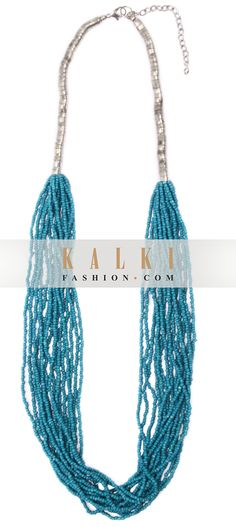 Buy Online from the link below. We ship worldwide http://www.kalkifashion.com/blue-beaded-necklace-only-on-kalki.html