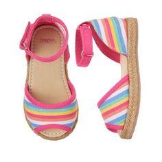 Girls Shoes sz 13 US NWT Gymboree Spring Rainbow Plaid Espadrille Sandals