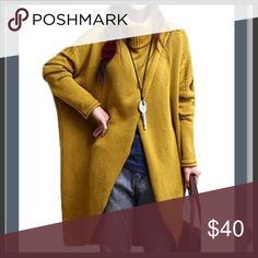 NWT - Asymmetrical Gold Duster Urban and Chic!  Too large for me is your gain. Received it today, but it is a final sale and doesn't fit. I love the flow of it  dress it up or down. So versatile!!  Price is firm. Modlily Sweaters Cowl & Turtlenecks