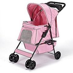 Guardian Gear Promenade Pet Stroller for Dogs and Cats, Petal Pink