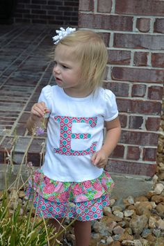INITIAL Tshirt dresssize 12M to 5 by SweetChicksBoutique on Etsy, $30.00