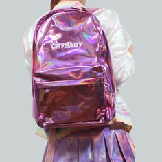 VALENTINE'S DAY SALE - KOKO HOLOGRAPHIC CRYBABY BACKPACK