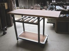 https://flic.kr/p/96yXpU | Small Kitchen Prep Table | Made for a friend.