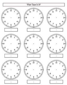 Use worksheets. Here is a terrific telling time worksheet