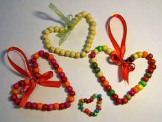 Tvoření od IVETULE: Srdíčka z korálků - soutěžní návod