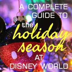 All about the holiday season at Disney World - overview of all holiday activities at Disney World including the Christmas party, Candlelight Processional and Osborne Lights