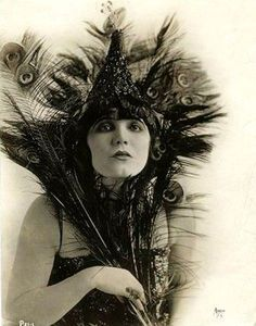 Louise Glaum in a peacock costume, 1920.
