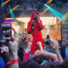 M.I.A live concert in Moscow  paper planes