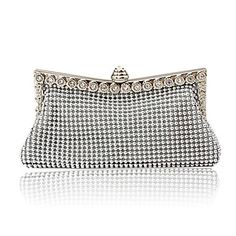 FreeShipping + GroupBuying + LightInTheBox Women Bags Satin Evening Bag Crystal/ Rhinestone for Event/Party All Seasons Gold Black Silver
