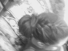 french braid with messy bun