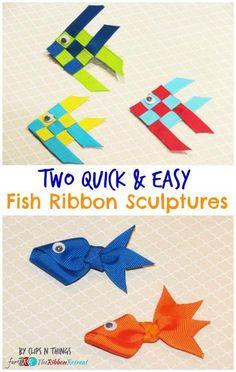 DIY Ribbon Crafts : DIY Two Quick and Easy Fish Ribbon Sculptures