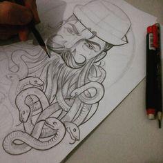 Medusa beard...... Algumas criações p variar os estudos. T.A #tomarte #desenho #draw #drawing #sketchs #sketching #beard #bearded #beardedgang #beardedforlife #beardlifestyle #barba #barbados #barbudos #noshave #bearded4all #beard4all #bearddown by tomartebrand