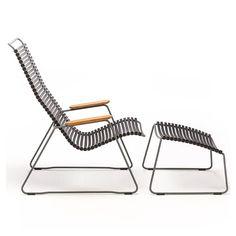 Chaise longue avec repose-pieds CLICK Houe