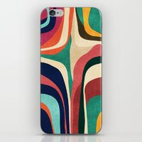iPhone & iPod Skin featuring Impossible contour map by Budi Kwan