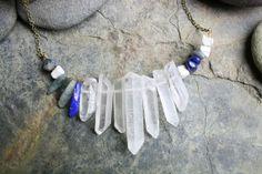 Necklace Magick Forest  Quartz Point Howlite by TheMagiciansCat, $25.00