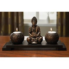 Buddha tea light candle holder set statue ornament, Feng Shui Bronze gift set in Home, Furniture & DIY, Home Decor, Candle & Tea Light Holders | eBay!