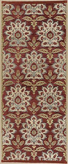 17th century Ottoman sil velvet, tulip & carnation design