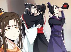 Wangxian, Jin Ling, and Jiang Cheng All Anime, Manga Anime, Anime Girls, Manhwa, Anime Fanfiction, The Grandmaster, Shounen Ai, Light Novel, Jojo's Bizarre Adventure