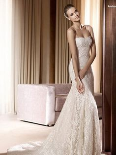 Mermaid Sweetheart Strapless Chapel Train Lace over Tulle Wedding Dress