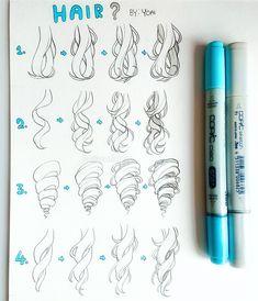 Likes, 72 Comments - Yoai / Anny / Cicishu ( Drawing Hair Tutorial, Manga Drawing Tutorials, Drawing Tips, Art Tutorials, Learn Drawing, Drawings With Meaning, Curly Hair Drawing, Anime Hair Drawing, Anime Curly Hair