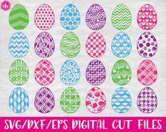 Patterned Easter Eggs Bundle (40), SVG, DXF, EPS, Cut Files, Vector, SVG Vector, Silhouette, Silhouette SVG, Cricut, Cricut SVG, Spring, Spring SVG, Bunny, Bunny SVG, Rabbit, Rabbit SVG, Easter Basket, Easter Basket SVG, Polka Dot, Chevron, Pattern