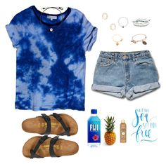 """A Pineapple A Day Keeps The Worries Away"" by avazumpano ❤ liked on Polyvore featuring Sandro, Kendra Scott, Pura Vida, Birkenstock, Alex and Ani and Sun Bum"
