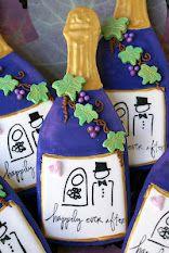 wine bottle cookies