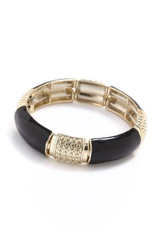 Stretch Enamel Bracelet in #Black and #Gold - 3131994 - from Equip (AUD $3.75).
