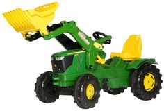 Click here to view additional information and availability for 6210R Tractor with Loader. The John Deere 6210R Premium tractor with loaders is perfect for young children who love being outdoors. Complete with opening bonnet, working front loaderwith automatic safety bolt and noiseless tyres ideal for hard surfaces. This tractor is [...]