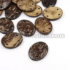 20 x 13mm marbled effect green variegated buttons with two holes