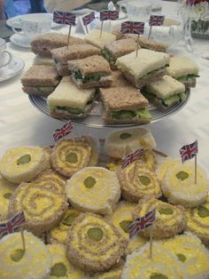 Make some Tea Sandwiches for your kids and have an England Theme Day.