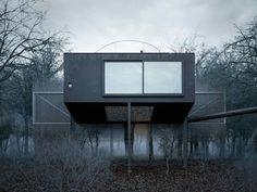 The Mask House est une petite maison conceptuelle située au bord d'un lac à Ithaca dans l'état de New-York. Nous devons cette réalisation à WOJR, une assoc