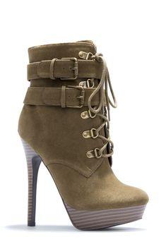 Women Buckle High Heels Boots
