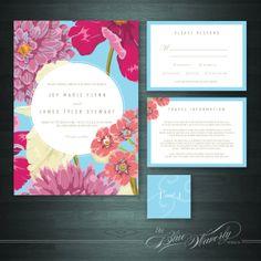 Floral Wedding Invitation DIY Printable by BlueWaverlyDesignCo, $25.00