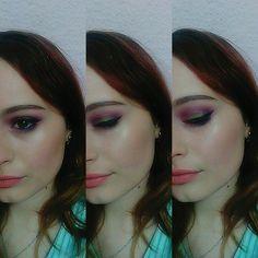 Smokey eyes #purple & #olive