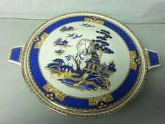 Royal Winton, England Gaudy-Blue Willow, 11.5in x 5in Soup Tureen or Cov. Veg. #RoyalWinton