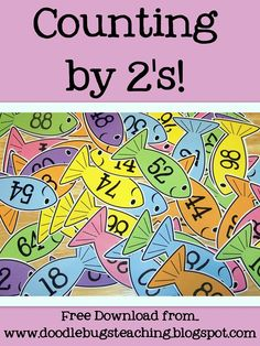 This is an awesome idea for kindergarten or first grade teaching students to count my 2's