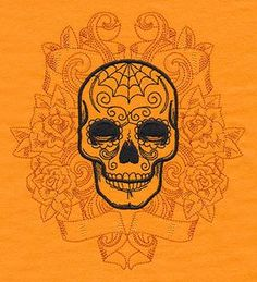 Shadowy Skull Tattoo_image
