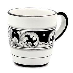 DERUTA - 'VARIO, NERO' Collection - Mug | Artistica Italian Ceramics