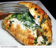 Easy, delicious and healthy Spinach and Pepper jack Cheese Stuffed Chicken Breast recipe from SparkRecipes. See our top-rated recipes for Spinach and Pepper jack Cheese Stuffed Chicken Breast. Low Carb Recipes, Cooking Recipes, Healthy Recipes, Cooking Time, Cheese Recipes, Healthy Drinks, Gourmet Recipes, Vegetarian Recipes, Cooking Bacon