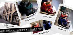 Questa settimana la vetrina di ASH a Milano espone le nuove sneaker con zeppa Andy e Alex in varie combinazioni di colori.  Vieni a vedere tutti i modelli in via Madonnina angolo piazza del Carmine!  #ashitalia