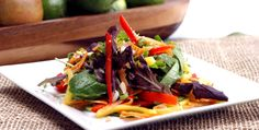 Thai Mango Salad - Recipes - Best Recipes Ever - The traditional Thai salad is sweet and spicy, filled with finely chopped pork, dried shrimp, peanuts and chilies. Here, we've mixed the traditional with a few creative ideas of our own....