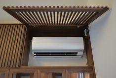 Küchen Design, Wall Design, House Design, Air Conditioner Cover Indoor, Architecture Details, Interior Architecture, Ac Cover, Home Bedroom, Home Interior Design