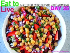 DAY 35 What to eat on Dr Fuhrman Eat to Live 6 week Nutritarian Plan