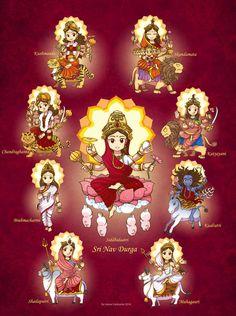 Sri Nav Durga by In-Sine