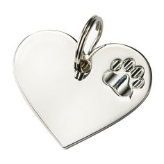 AVON EXCLUSIVE. Features an embossed paw print on one side and space to engrave a name or message on the other side. Ring hooks to a collar. 4 cm W x 3.5 cm H. Metal. Pet Collar - Only $0.99 with each purchase from pages 130-131 of the C06 brochure! (Excluding the Pet Collar)