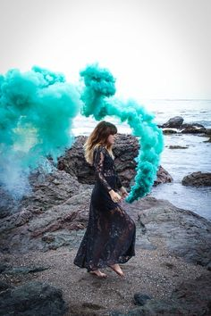 A Colourful Smoke Bomb Photo Shoot by Ginger Blonde Photography on Whim Online Magazine
