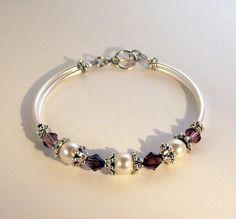 Cristal de Swarovski y joyas de perlas pulsera por kippyskreations