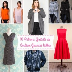#patrongratuit #patronsgratuits #patrongrandetaille #patronsgrandestailles #curvyfashion #curvysewingfashion #plussizefashion #sewingplussize Curvy Women Fashion, Plus Size Fashion, Womens Fashion, Sewing Patterns Free, Free Sewing, Sewing Shorts, Crochet Bracelet, Refashion, Plus Size Outfits