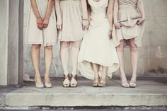 Shows personality of each woman by the way they stand.  Love this.